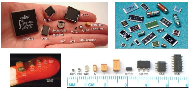 Figure 9: A wide scope of SMD component packages;